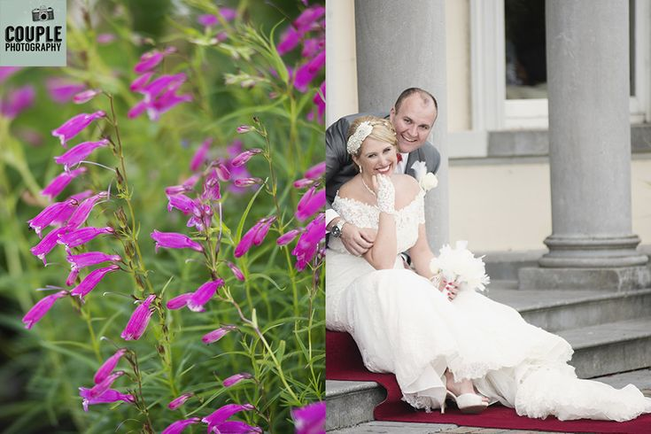 Flowers. The bride and groom share a quiet moment. Weddings at Moyvalley Hotel and Golf Resort Photographed by Couple Photography.