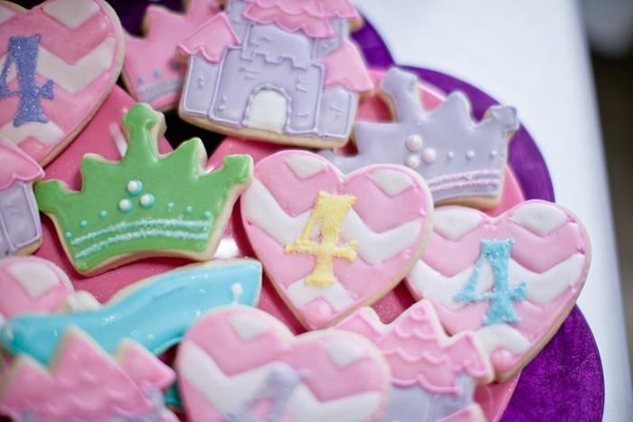 Princess Birthday Party Planning Ideas Cookies/Cake Decorations Supplies Idea