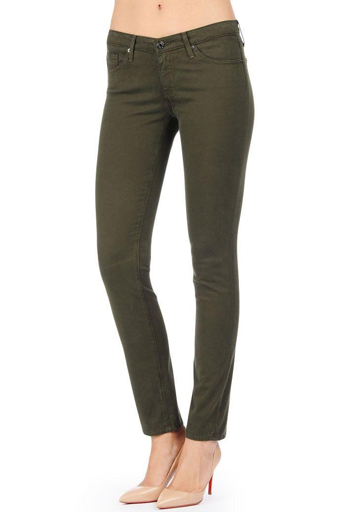 The Sateen Stilt - Dark Autumn Olive | AG Jeans Official Store