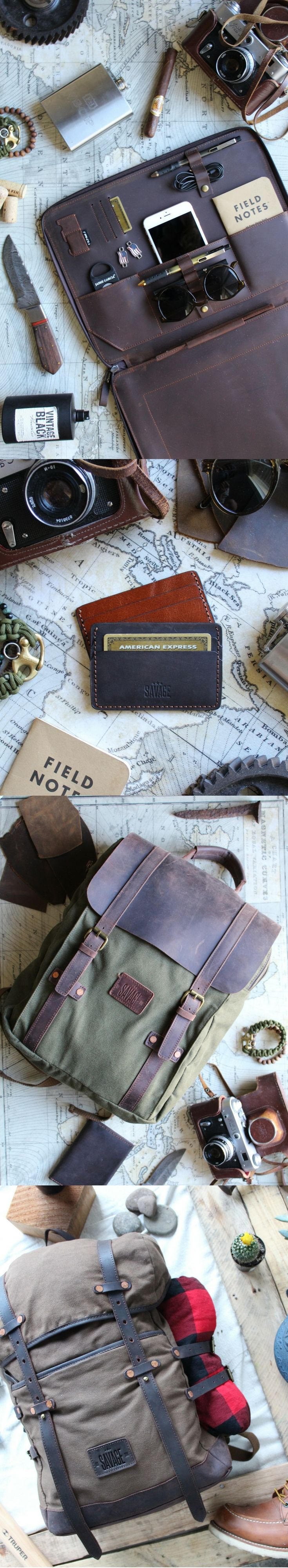 Perfect leather gift ideas cases, backpacks, passport wallets and more.