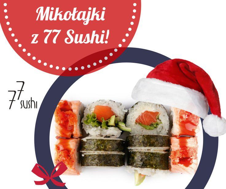 Ho Ho Ho! Mikołajki z 77 Sushi!? Świetny pomysł na spędzenie czasu z rodziną lub znajomymi :) Piszesz się? Sprawdź gdzie znajdziesz restaurację najbliżej Ciebie http://bit.ly/1gwAMVV :)