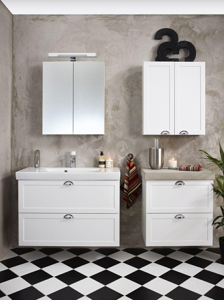 Badrumsserie - Artic. Trivsamt, trendigt och praktiskt med Logic badrumsskåp i färgen Classy White. | GUSTAVSBERG