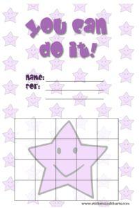 Cute Star Charts - free printable reward charts for kids and behavior charts…