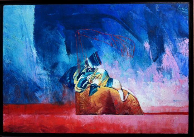 Naufraga y Fantasma de Naufrago / Óleo sobre lienzo /  70 x 100 cm / 1998