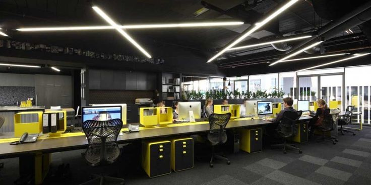 love the organized squares! workspace interior design of ellivio