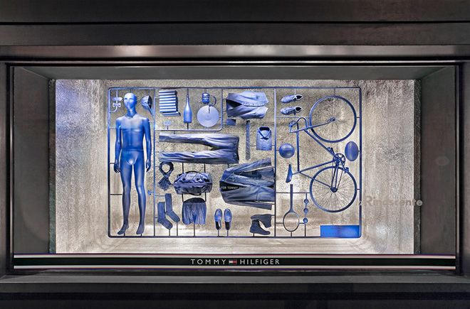 'I Have A Lifestyle', the all-blue display includes a pared-back wardrobe made up of pieces from Hilfiger's Fall/Winter 2013 Tailored collection