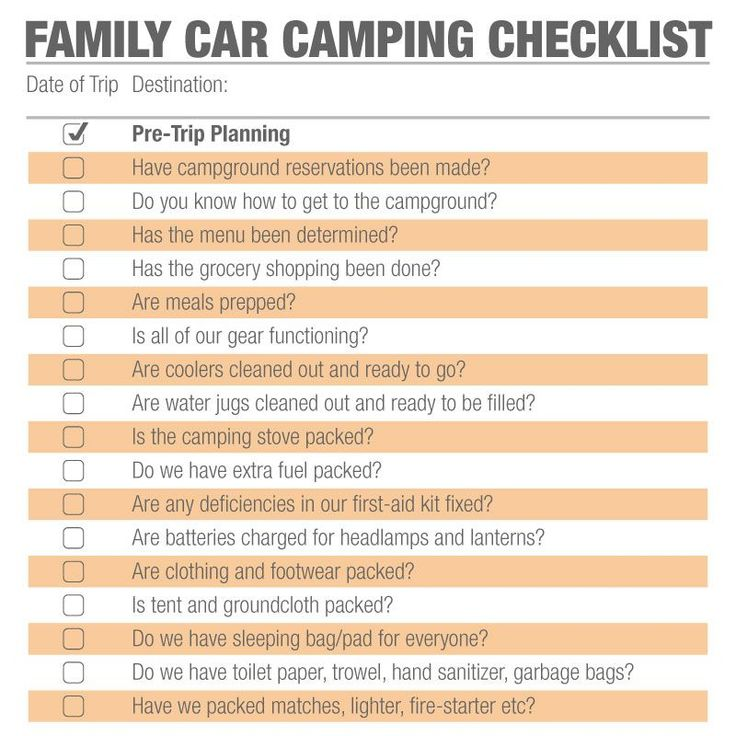 Best  Camping Checklist Ideas On   Camping
