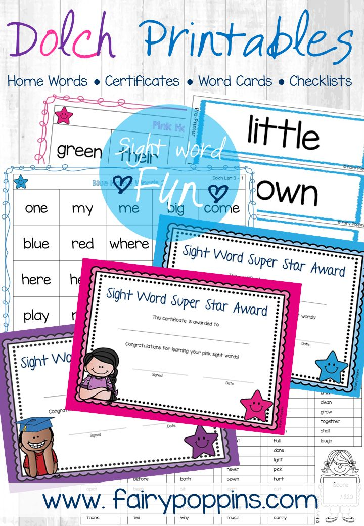 70 best Sight Words \ Reading {ELA} images on Pinterest Teaching - certificates in word