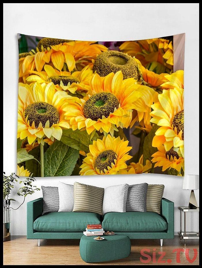 Sunflowers Printed Tapestry Wall Hanging Art Decoration Sunflowers