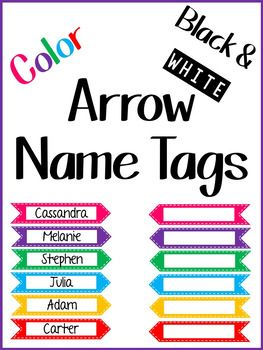 This set of name tags includes bright arrows with stitching and black white arrows with stitching. Type in the students' names or just print off the blank ones and write them in!If you like this, check out my other sets:Lily SetDragon Name TagsBeauty and the Beast Name TagsLearning Bug Name TagsRainbow Polka Dot Name Tags