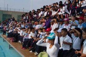Niños del CENDI visitan instalacionesdel Polideportivo Zona Poniente del ITO