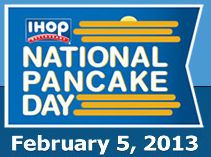 FREE Pancakes at IHOP For National Pancake Day on February 5th on http://hunt4freebies.com