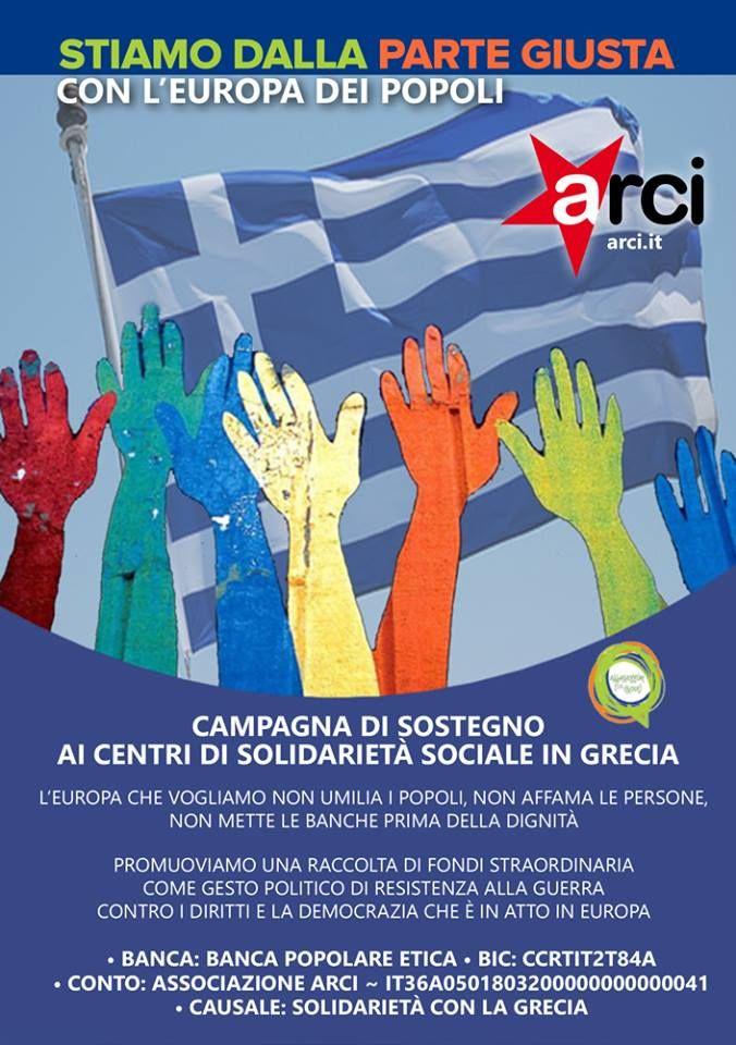 Con la Grecia - ARCI Comitato Territoriale di Verona