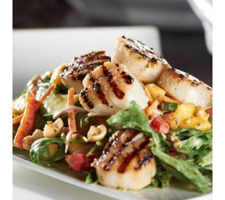 Story image of Zesty Grilled Scallops with a Mango  Arugula Salad