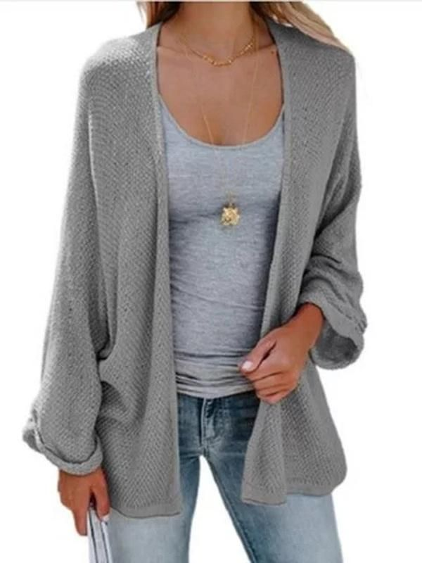 9597cb917c Knitted Batwing Cotton-blend Plus Size Cardigan – lalasgal