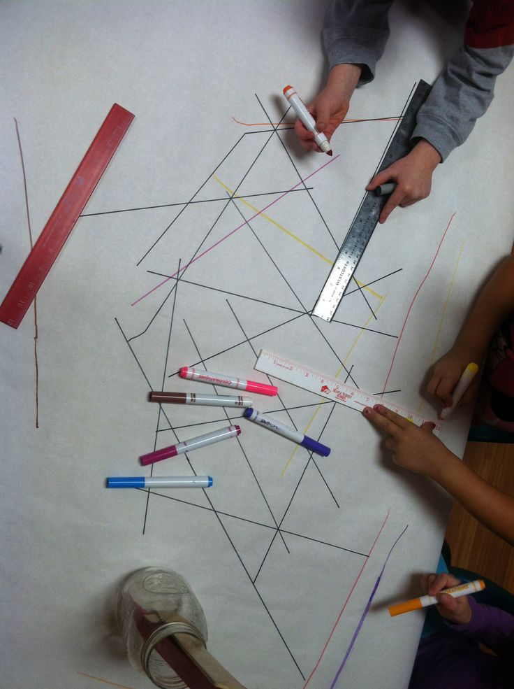 Rulers and markers - provocation for measurement, colour, shape and more