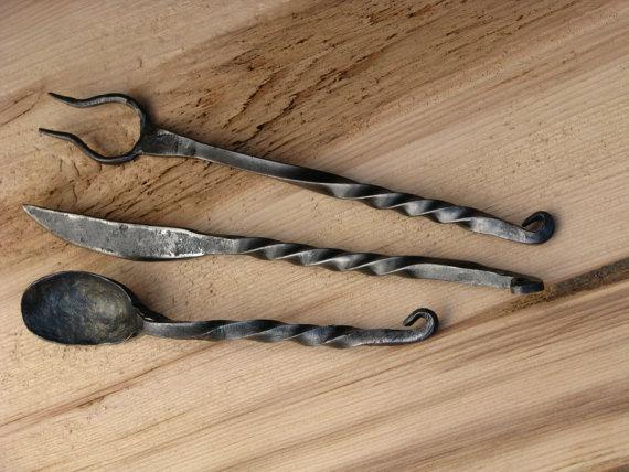Primitive Knife Fork And Spoon Set