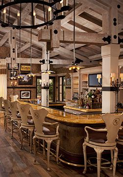 The Pony Room is the bar at Rancho Valencia in San Diego, California. It's absolutely full at night - the restaurant and bar attract a lot of locals which make it very lively.