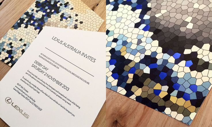 """Gold PICA Award for Lexus Melbourne Cup Invitations: Award for the best print object of Australia in the category """"Stationery""""! Printed by @Watermarx Graphics graphics in Sydney."""