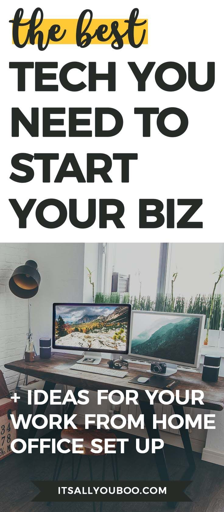 The Best Essential Tech for Starting Your Business | #Organized ...