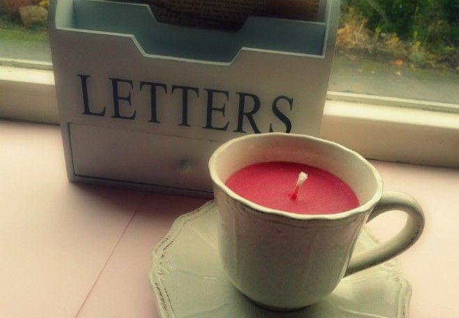DIY Kaarsen in een theekopje