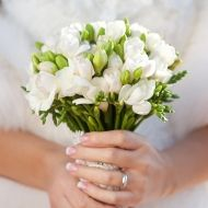 Simple Glimmer Bridal Bouquet - Simple Glimmer Bridal Bouquet > View Full-Size...   Glimmer, Simple, Aud, Bouquet, Purchased  