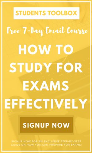 Get our FREE email course ASAP! Proudly introduce our comprehensive course on the last minute tips for studying exams. This course is full of study tips & hacks!! Enjoy :) Also we are going to publish a free workbook! Stay tuned with studentstoolbox.com.