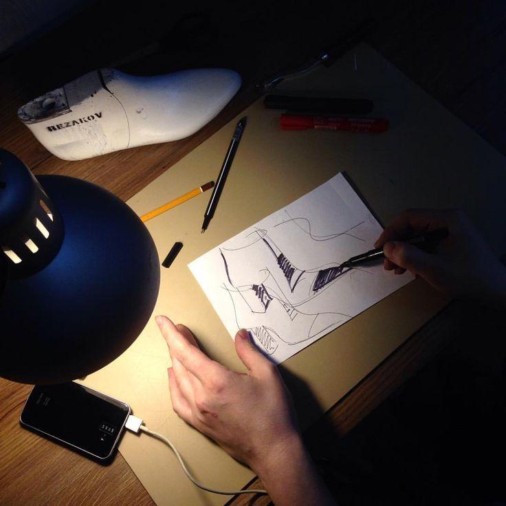 Процесс создания обуви. Эскизы обуви.