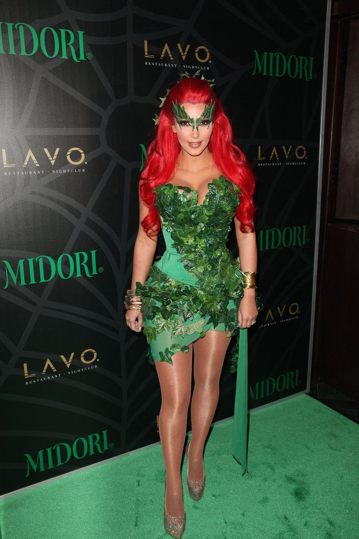 kim kardashian green dress red hair green eyelashes poison ivy costume for halloween verde rosu pinterest poison ivy costumes kim kardashian and - Green Halloween Dress