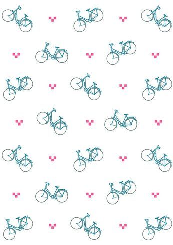 Free digital bicycle scrapbooking paper - ausdruckbares Geschenkpapier - freebie | MeinLilaPark – DIY printables and downloads