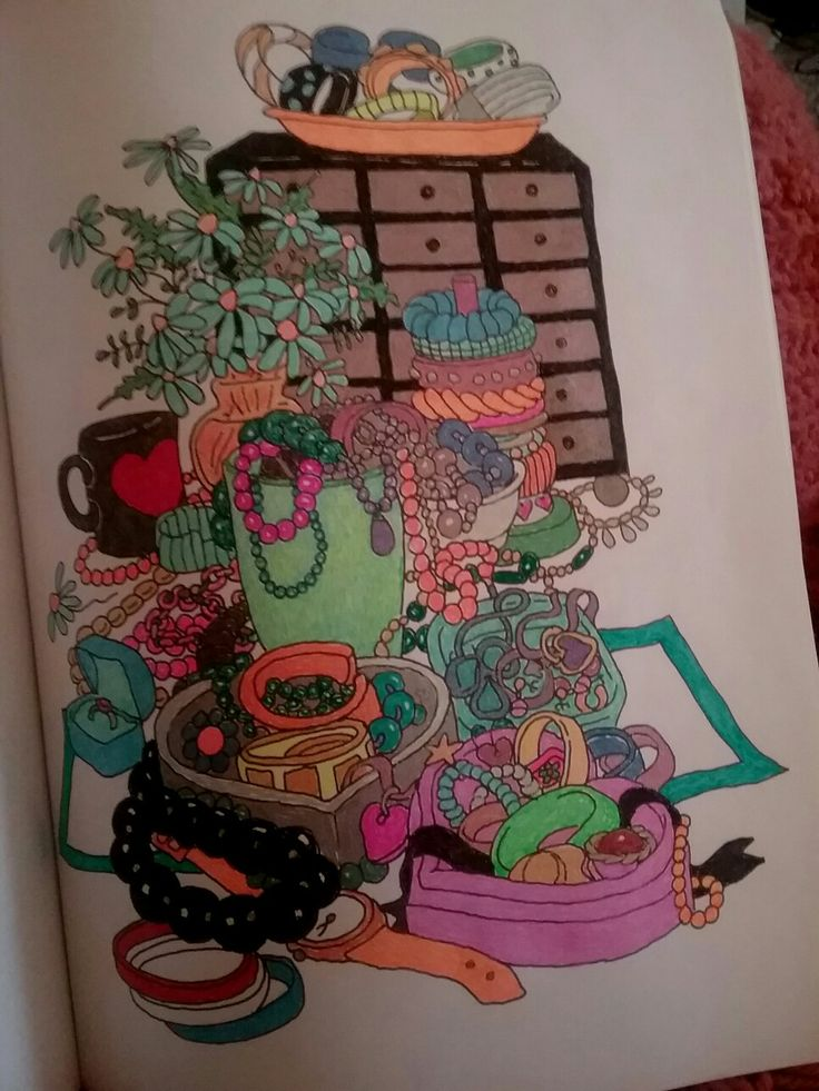 30 Best Color Me Cluttered Coloring Book Images On Pinterest