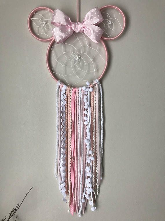 Minnie Mouse Dreamcatcher, Dreamcatcher, little girl Dreamcatcher, Disney fan decor, Disney Dreamcatcher, little princess wall hanging