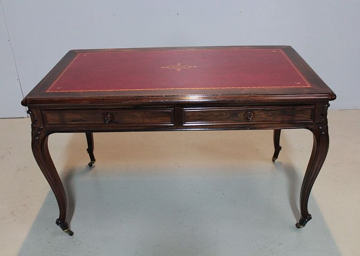 Table-Bureau Louis XV en Palissandre XIXeme | Antiquites Lecomte