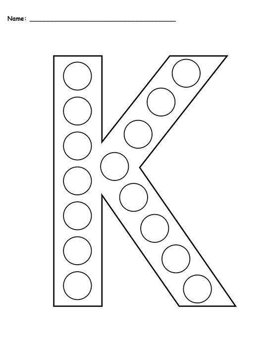 free letter k do a dot printables uppercase lowercase letters j k l pinterest letter k. Black Bedroom Furniture Sets. Home Design Ideas