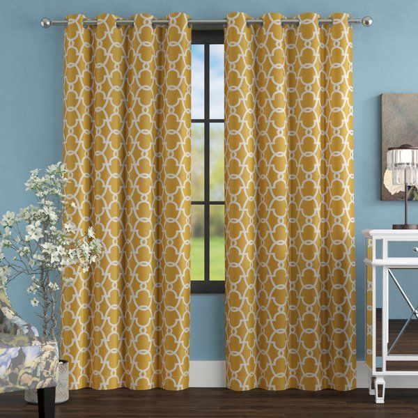 Bedelia Geometric Room Darkening Thermal Grommet Curtain Panels With Images Panel Curtains Grommet Curtains