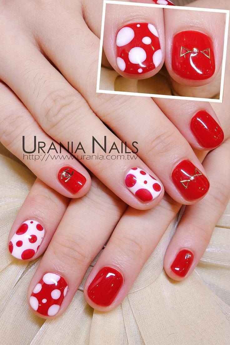 #nail #nails #nailart - lovin those polka dots