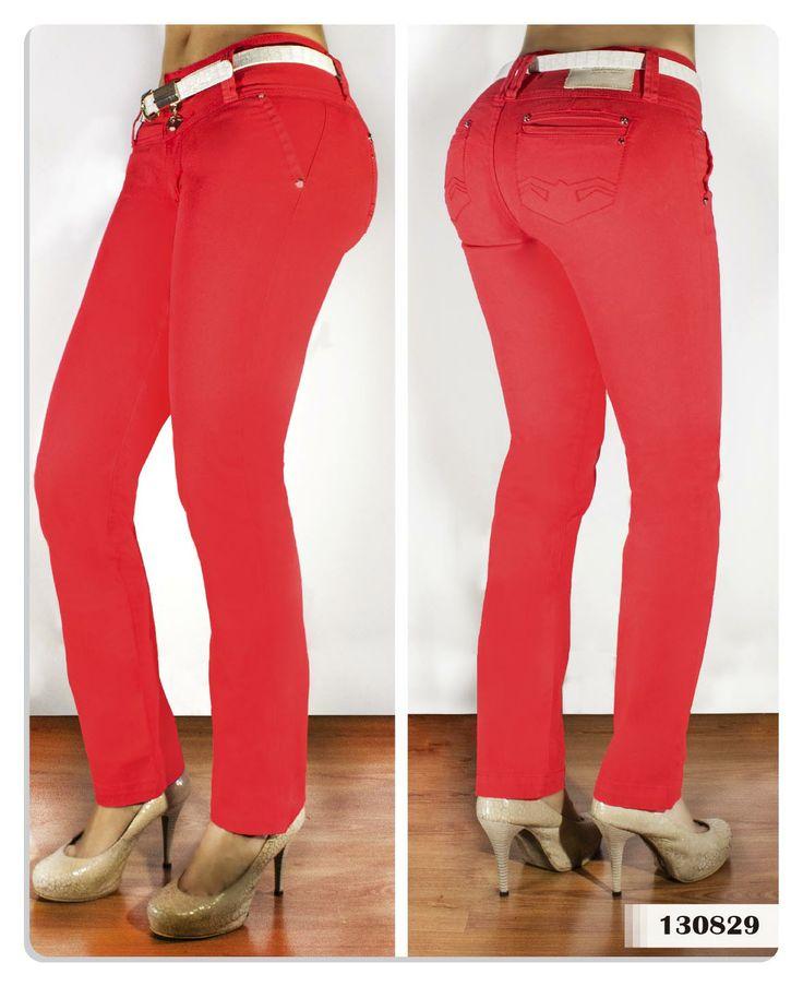 Pantalón rojo para mujer bota recta-Sexy, yet Casual #Fashion #sexy #woman #womens #fashion #neutral #casual #female #females #girl #girls #hot  #hotlooks #great #style #styles #hair #clothing  www.ushuaiajean.com.co