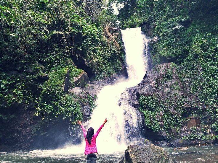water fall and me