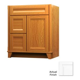 Kraftmaid tribecca sonata dove white contemporary maple bathroom vanity common 30 in x 21 in - Kraftmaid bathroom cabinets catalog ...