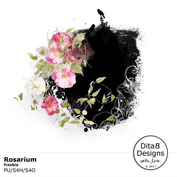 DitaB Designs:   Rosarium Freebie by DitaB Designs freebie contai...