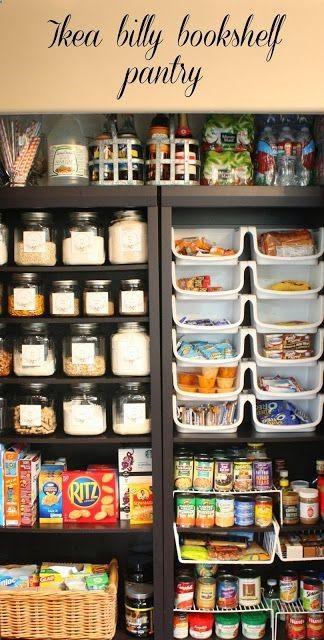Blogger My Sweet Savannah used birch veneer BILLY bookcases to keep her pantry hyper organized... tracking genius!