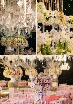 Sweet and natural wedding decoration ideas this is incredible dazzling night with a hint of summers colors for your indoor wedding decoration idea project junglespirit Images