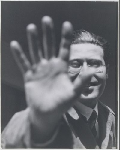 Lucia Moholy (British, 1894-1989). László Moholy-Nagy, 1925-26. Gelatin silver print, possibly printed after 1928. 10 1/16 x 7 7/8 in. (25.6 x 20 cm). Ford Motor Company Collection, Gift of Ford Motor Company and John C. Waddell.