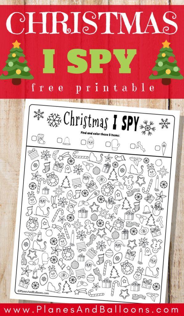 Christmas I Spy Free Printable Planes Balloons Let S Make Learning Fun Christmas Kindergarten Spy Games For Kids Kindergarten Christmas Activities