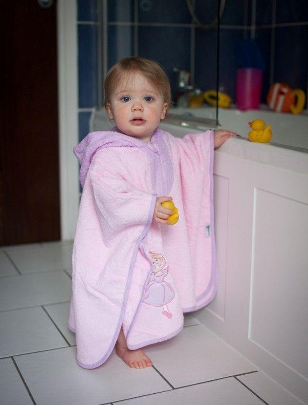 Hooded Bath Poncho Pink Fairy