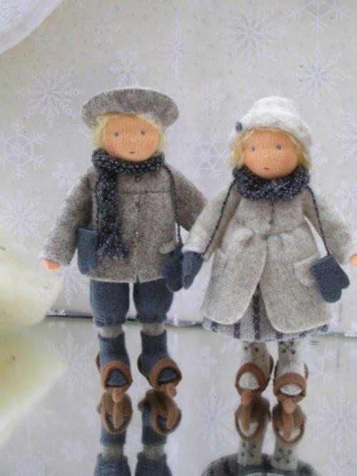 winter blumenkinder und deko biegep ppchen pinterest winter deko und puppen. Black Bedroom Furniture Sets. Home Design Ideas