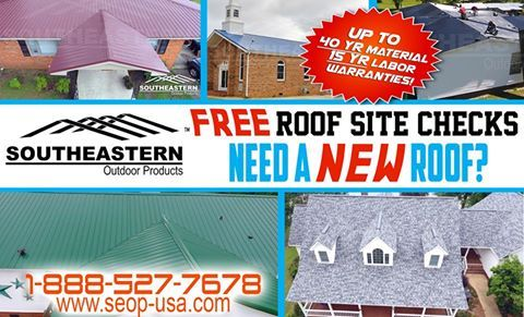 Need a new roof? FREE ROOFING SITE CHECKS! Sign up for our roofing professional to measure your roof and provide you with material and labor estimates for free! We offer metal roofing in 19+ colors as well as shingles in a variety of colors! We install! Give us a call at 910-590-3513 or visit us online at www.seop-usa.com! #Metal #MetalRoofing #Roof #MetalRoof #Shingles #Home