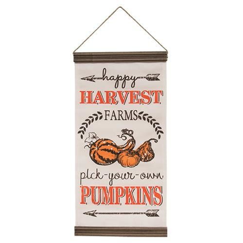 Happy Harvest Pick your own Pumpkins Wall Banner Hanging Flag Sign Fall Autumn #Unbranded