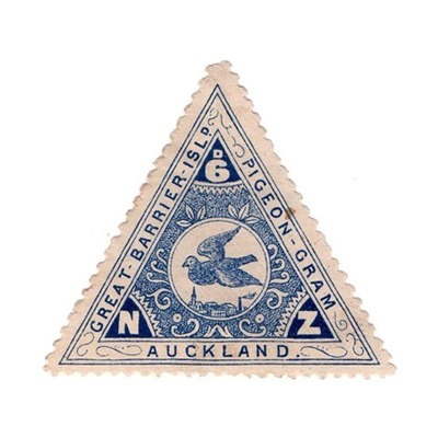 New Zealand, Great barrier island pigeon-gram stamp