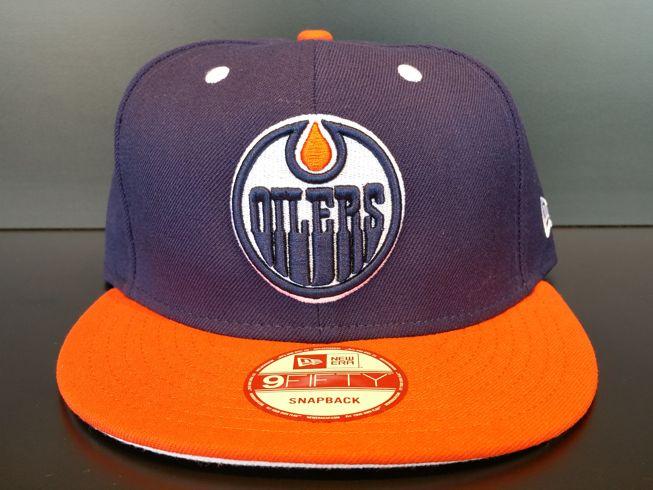 Edmonton Oilers Snapback Exclusive Custom Navy and Orange